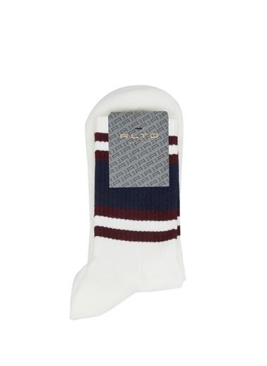 Alto Socks Alto Socks   Çizgili Erkek Çorap 101643925 Beyaz